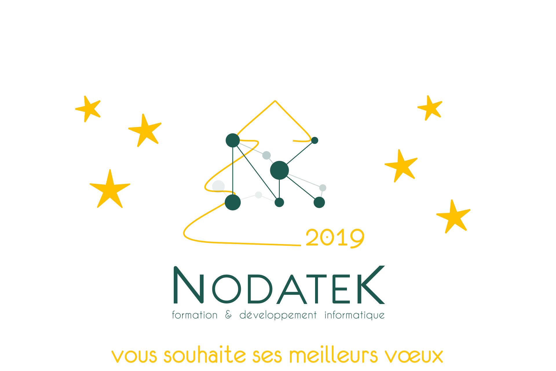 Carte vœux Nodatek 2019