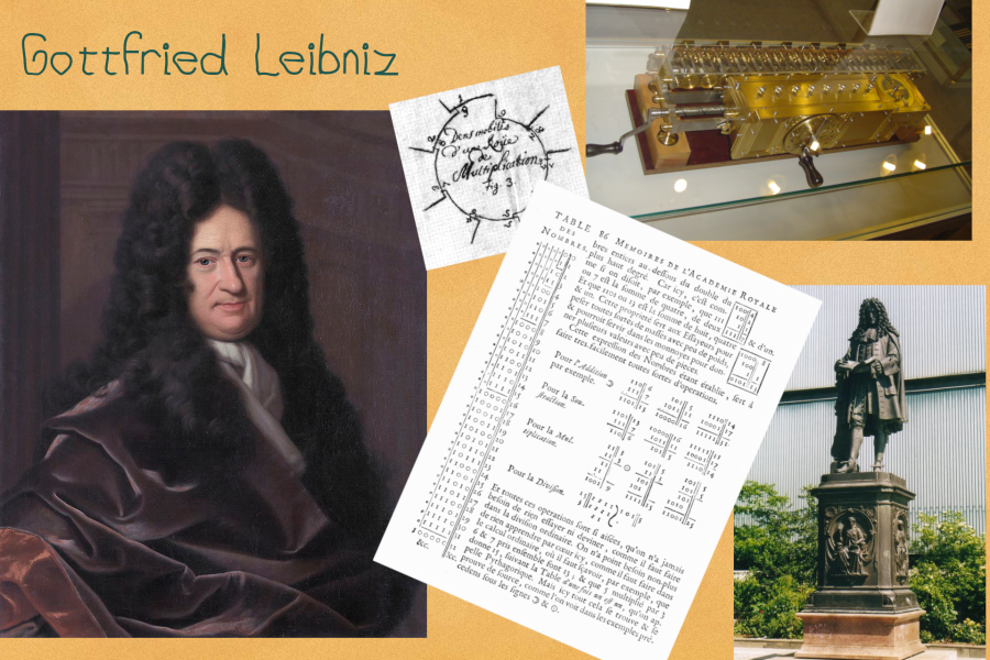 Gottfried Leibniz, portrait, statue et travaux
