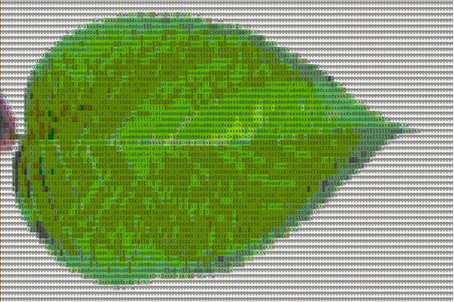 Feuille d'arbre en ASCII art